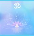 yoga lotos meditation vector image vector image