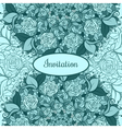 Green Vintage ethnic ornament card with mandala vector image