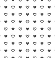 Black heart seamless pattern ornament background vector image