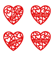 letter words red heart Valentines Day Background vector image