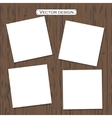 blank paper template on a background vector image