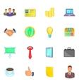 Businessman icons set cartoon style vector image