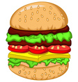 big burger for your design vector image