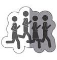people men jogging icon stock vector image