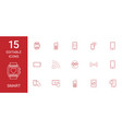 15 smart icons vector image vector image