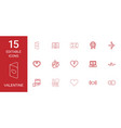 15 valentine icons vector image vector image