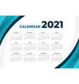 2021 modern calendar design with curve shape