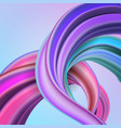 3d fluide curved wave vector image vector image