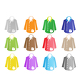 A Colorful Set of Jacket Suit vector image