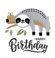 a cute sloth vector image vector image