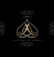 aa monogram initial wedding logo company