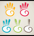 abstract counting hand vector image vector image