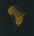 africa continent map gold glitter luxury concept