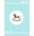 baby greeting card - boy vector image vector image