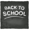 back to school chalkboard blackboard vector image vector image