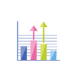 bars and arrows infographics vector image