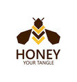 bee label for honey logo products vector image vector image