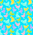 Bird pattern blue vector image vector image