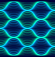 blue neon waves seamless pattern background with vector image