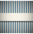 Blue retro pattern with stripes vector image