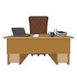 boss table business office leader supervisor vector image