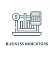 business indicators line icon linear vector image vector image