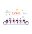 business team work and cooperation concept vector image vector image