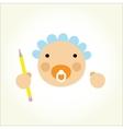 cartoon baby beginner artist vector image
