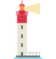 cartoon flat lighthouses vector image vector image