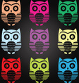 Chalkboard Owl Collection vector image vector image