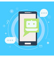 chat bot on phone vector image