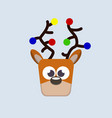 christmas deer - flat design vector image vector image