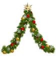 christmas garland tree vector image