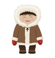 chukchi icon northern person and ethnic culture vector image vector image