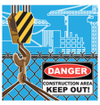 construction area worning vector image vector image