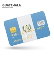 Credit card with Guatemala flag background for vector image vector image