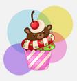 cute bear cupcakes vector image