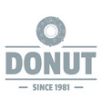 donut logo simple gray style vector image vector image