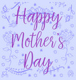 doodle mother day style art vector image vector image