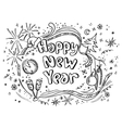 Doodle new year vector image vector image