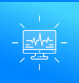 ecg heart diagnostics linear icon vector image