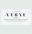 elegant stylish font modern serif typeface vector image vector image
