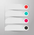 Empty Paper Labels vector image vector image