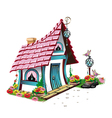 fairytale house with pink roof vector image vector image