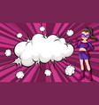 female superhero comic banner vector image vector image