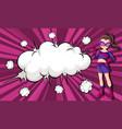 female superhero comic banner vector image