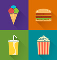 Flat food symbol vector image vector image