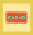 flat shading style icon casino sign vector image vector image