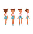 full length portrait cheerful girl character in vector image vector image