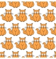 ginger cat seamless pattern vector image